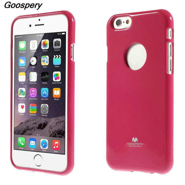 huge selection of 17b83 d152d US $10.96 |For iPhone 8 Case Original Mercury GOOSPERY Glitter Powder Jelly  TPU Case for iPhone 6 6s 6s plus Phone Case For iPHone 7 8 Plus-in Fitted  ...
