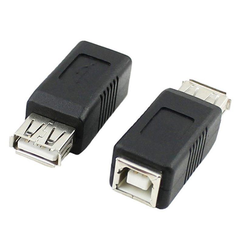 USB 2.0 Type A Female to USB2 Type B Female Adapter Connector Coupler Extend