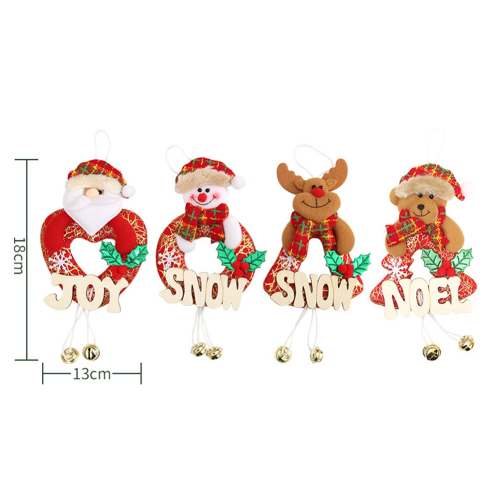 Pc Christmas Decoration Ornaments Letters Wooden Sign Fireplace