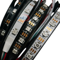 new 3m WS2812B Smart led pixel strip,Individually addressable ,Black/White PCB,30/60 leds/m WS2812 IC;IP30/IP67 DC5V
