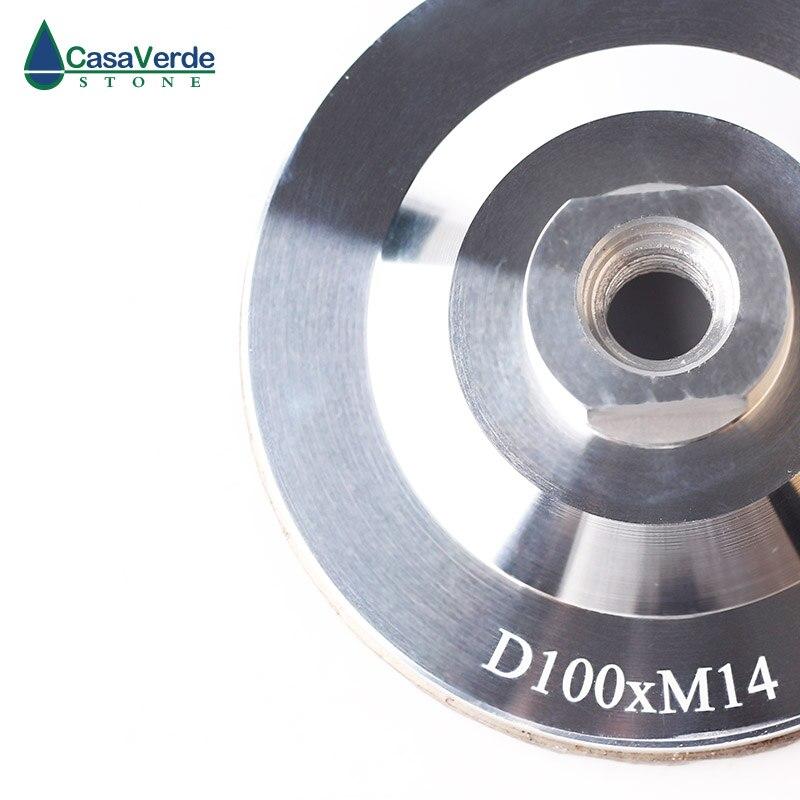 Livraison gratuite 3 pièces/ensemble diamant turbo résine remplissage aluminium corps coupe roues 4 pouces pour la pierre de meulage - 5