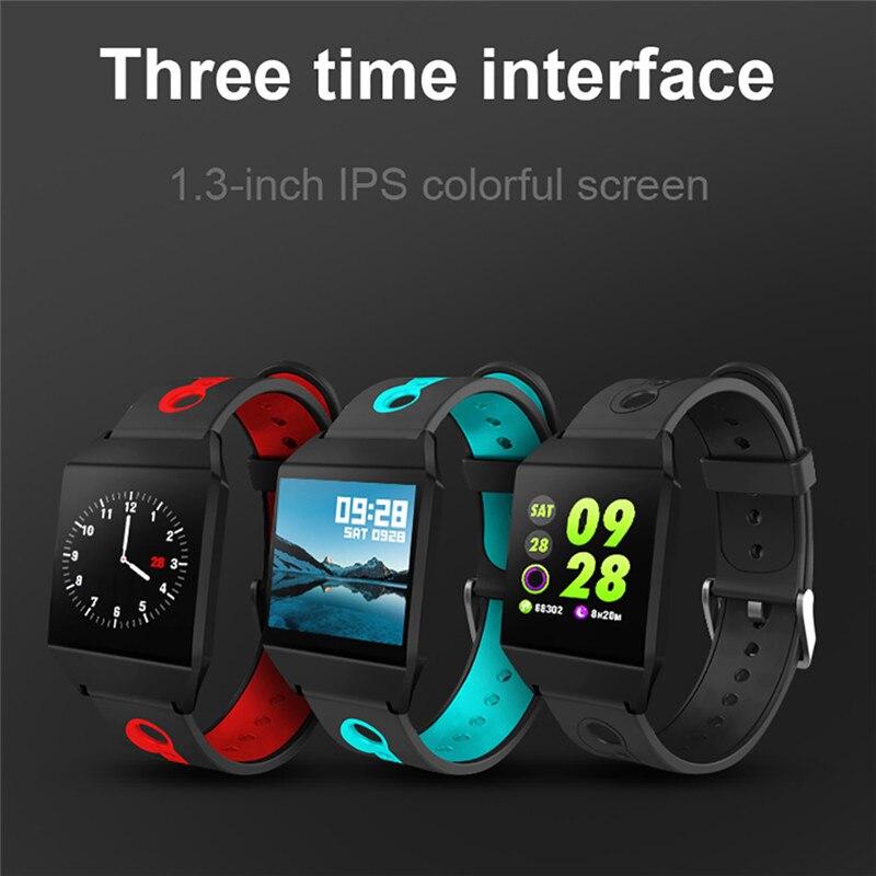 W1 Smart Bracelet Blood Pressure Measurement Color Screen Fitness Tracker Watch Waterproof IP68 Heart Rate Monitor GPS Tracker 2
