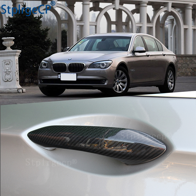 For <font><b>BMW</b></font> 7 series <font><b>F01</b></font> F02 F03 F04 730Li 740Li 750Li 2009-2015 <font><b>Accessories</b></font> 100% real carbon fiber Auto outer door handle cover image
