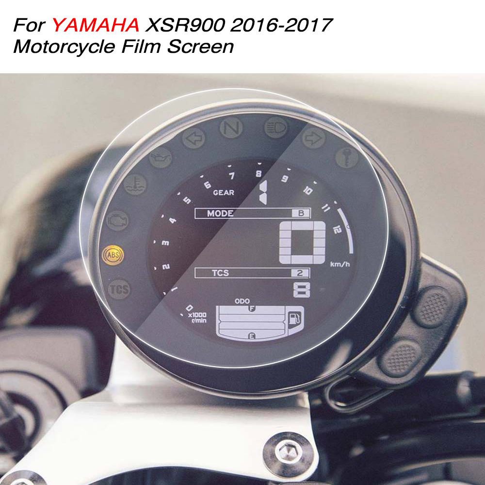 KEMiMOTO For Yamaha XSR 900 Cluster Scratch Protection Film Screen Protector for YAMAHA XSR900 2016 2017 after market kemimoto for yamaha mt 10 fz 10 cluster scratch speedometer film screen protector for yamaha mt 10 mt10 2016 2017