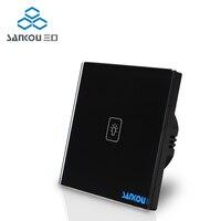 Smart Switch EU Standard Touch Switch Screen 110v 250v 1gang 1way Crystal Glass Panel Wall Light