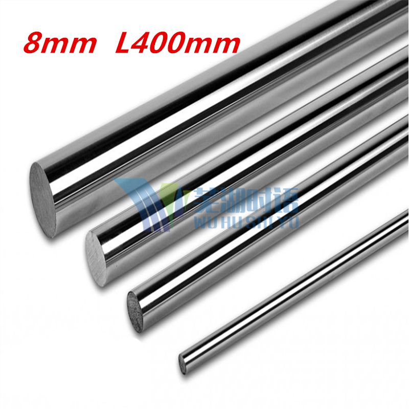 OD 8mm x 500mm Cylinder Liner Rail Linear Shaft Optical Axis chrome For 3D Printer Accessory 8mm linear shaft 500mm 4pcs od 16mm x 800mm cylinder liner rail linear shaft optical axis