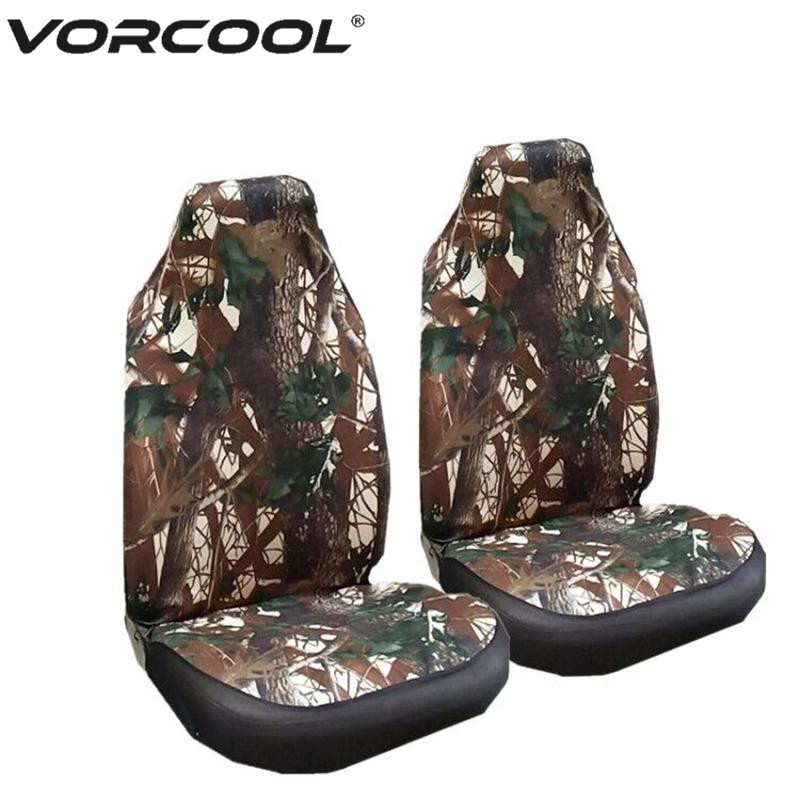 Universal Camouflage Front Seat Cover Bucket Seat Cover Blanket Pad Protectors for Car SUV Truck coverking front 50 50 bucket custom fit seat cover for select chevrolet monte carlo models genuine leather black