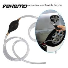 Vehemo Car Fuel Gas Pump Petrol Diesel Liquid Hand Pump Primer Bulb Water Oil Transfer Pump PVC Syphon 10mm Pipe