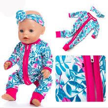 Jumpsuits Doll Clothes Fit For Born Baby 17 inch 43cm Accessories