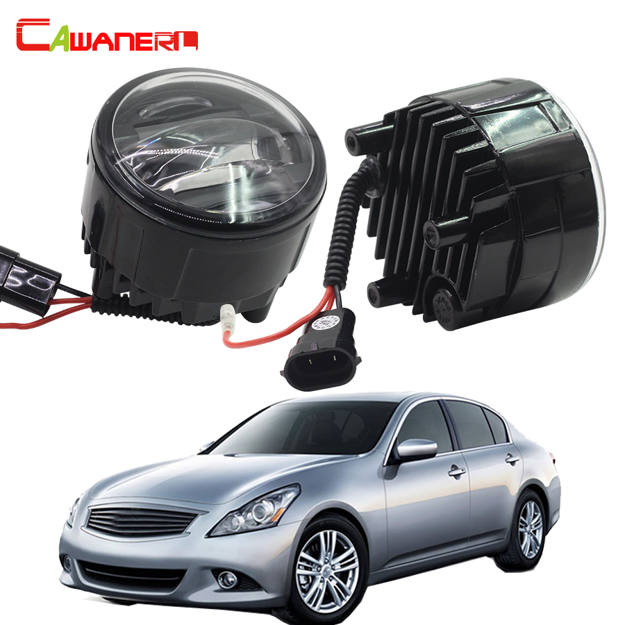 Cawanerl 2 X Car Styling Left + Right Fog Light LED Daytime Running Lamp DRL 12V For Infiniti G25 2.5L V6 2011 2012 cawanerl 2 pieces car styling led fog light daytime running lamp drl 12v for infiniti g37 sport 3 7l v6 gas 2011 2012 2013