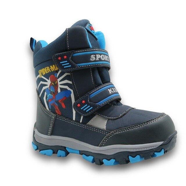 Дракоша середины икры банджи шнуровкой дети снегоступы непромокаемые сапоги мальчики большие мальчики спортивная обувь wollen подкладка дети сапоги для мальчиков