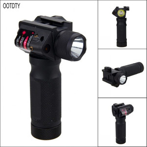 OOTDTY Modified Exterior Red Dot Laser Glare Flashlight Handle For 21mm Guide Rail