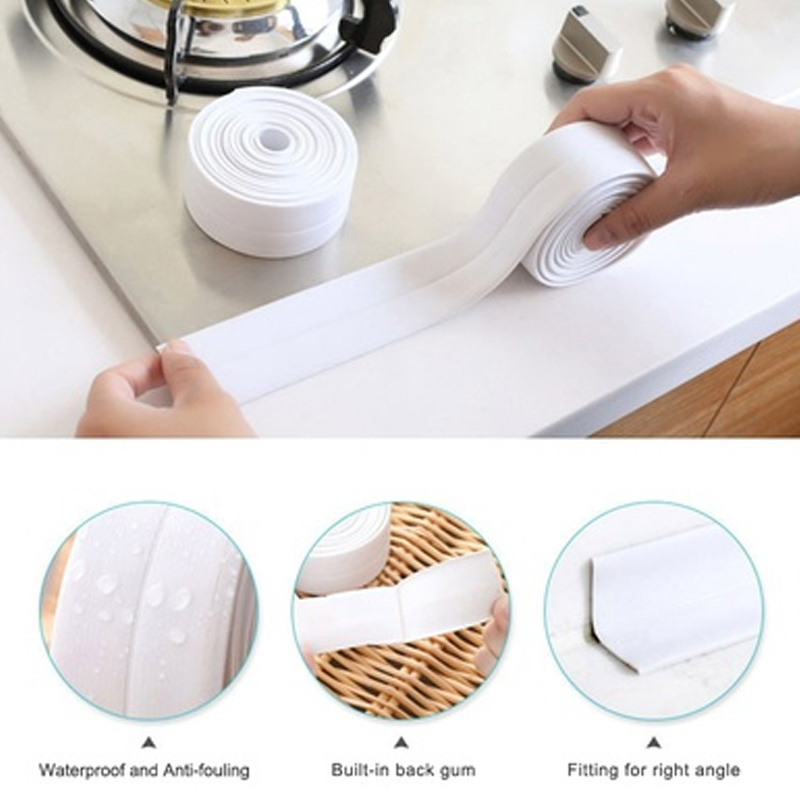 Kitchen Bathroom Wall Sealing Strip Corner Line Sticking Tape PVC Waterproof Tape Mildew Proof Sink Joint Crevice Sticker Line