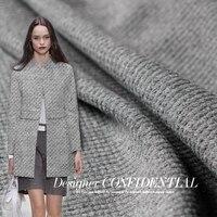 146cm Width 580g M Light Grey Color Silver Line Goods Wool Materials Winter Overcoat DIY Clothes