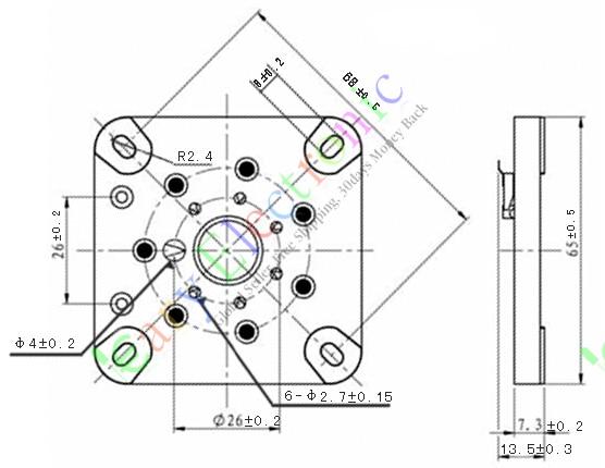 Wholesale and retail 6pc 7pin Gilded Ceramic vacuum tube socket gold for 6C33 832 829 FU29 826 audio