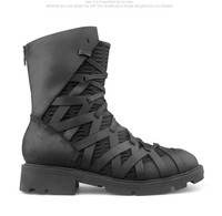 Luxury Exclusive Personalized High top bandage genuine leather martin Boots men shoes