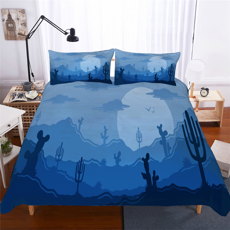Bedding Set 3D Printed Duvet Cover Bed Set Cactus Flamingo Home Textiles For Adults Lifelike Bedclothes With Pillowcase #XRZ05