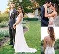 Bohemian Wedding Dresses 2017 Jenny Packham Luxury Crystal Beaded Ivory Chiffon Bridal Gowns Sheer Open Back Vestidos De Novia