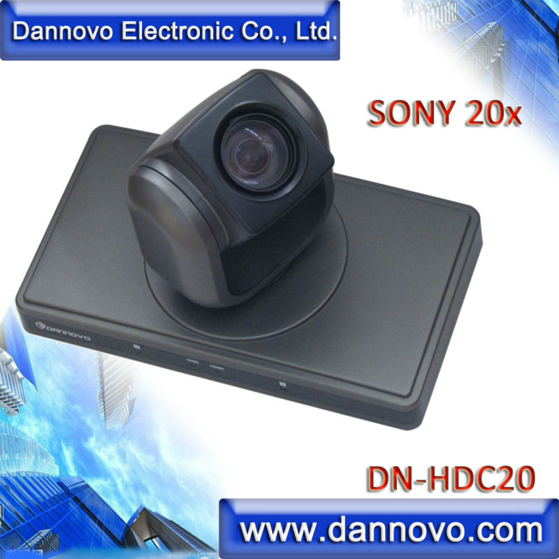 DANNOVO 1080P/60 Video Conference System Camera, Sony 20x Optical Zoom PTZ Camera,Support DVI,HDMI Video Output