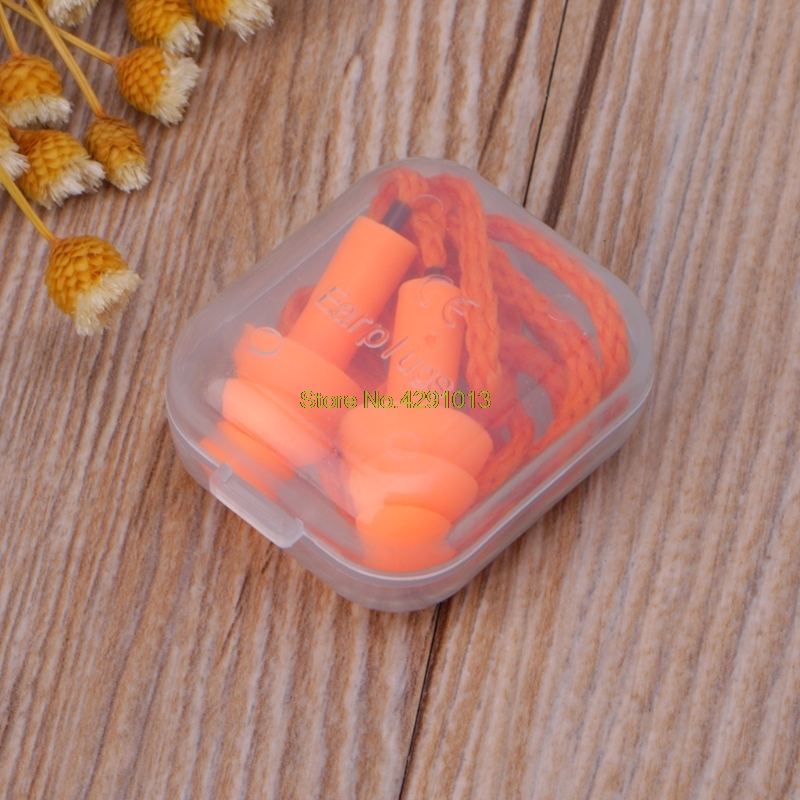 Soft Silicone Wired Ear Plugs Noise Reduction Caps Earmuffs Hearing Protection Drop Shipping Support