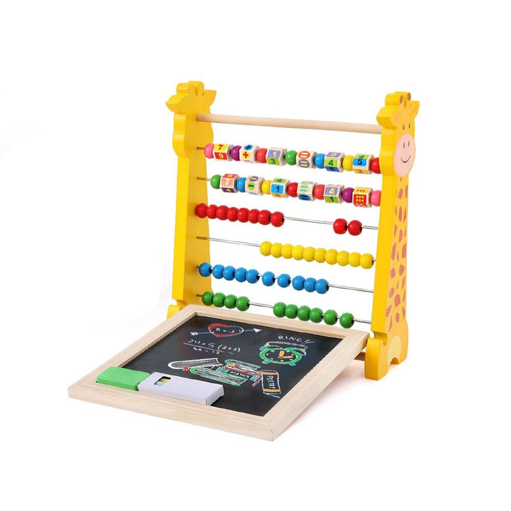 Enfants Multi-fonctionnelle Cerf Comptage Perles Abacus blocs de construction D'apprentissage Bébé Éducatifs jouet mathématique Calcul Crémaillère Jouet