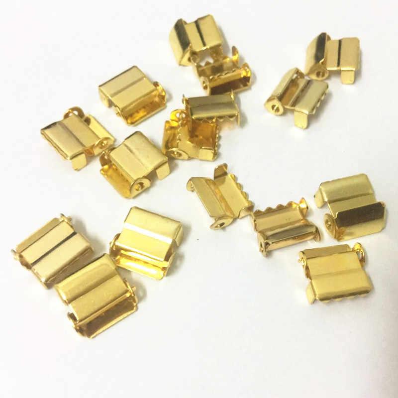 (30 шт./лот) 10 мм Золотая ножка трещотка аппаратные металлические подтяжки с пряжками пряжки для регулировки материалы для рукоделия
