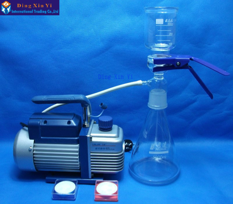 1000ml membrane filter+vacuum pump+filtering membrane,Ultra low-cost Vacuum filtration apparatus high quality low price best service 90kpa vacuum membrane vacuum pump