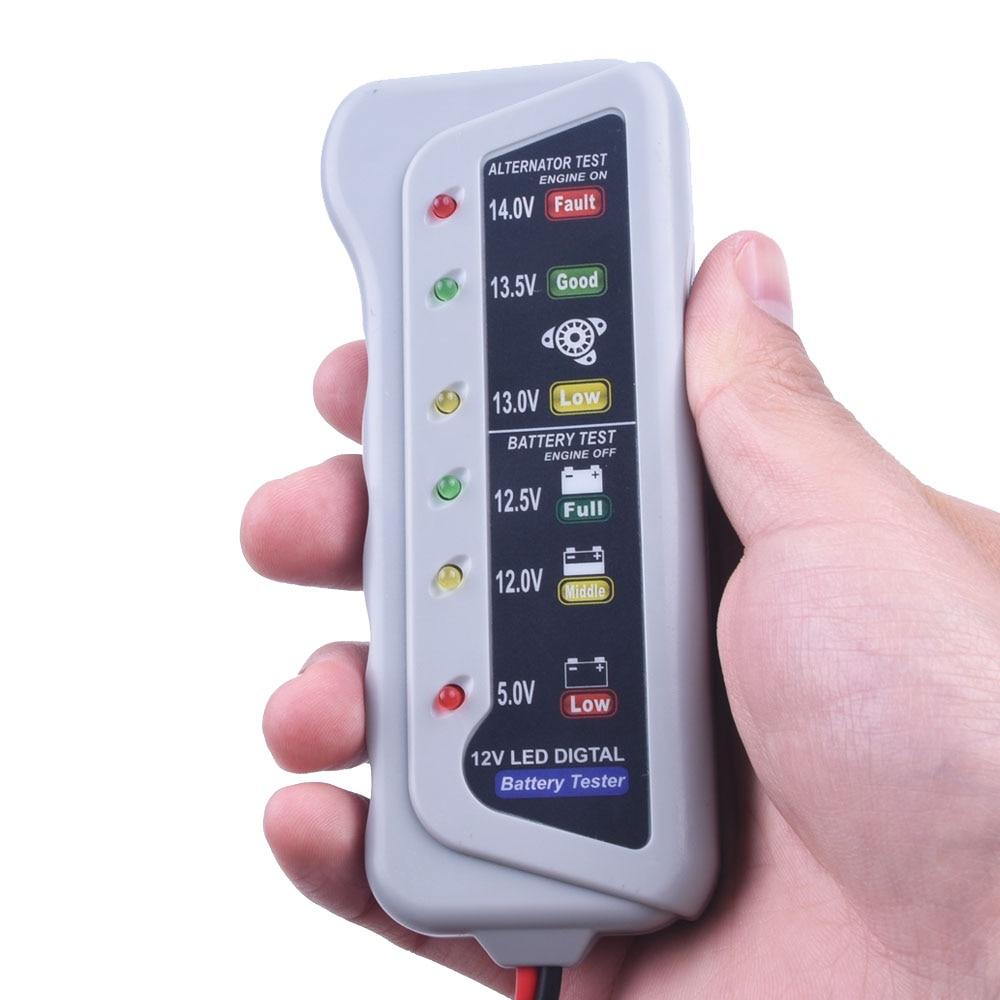 12v auto car battery alternator tester with 6 led test. Black Bedroom Furniture Sets. Home Design Ideas
