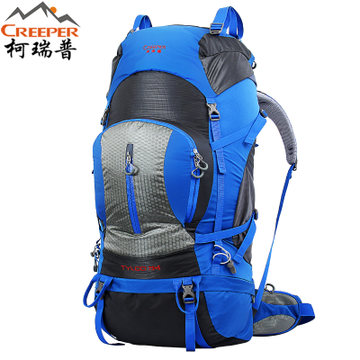 цена на Crepeer Professional Outdoor Climbing backpack Shoulders Hiking waterproof men and women travel Camping Mountaineering Bag 80L
