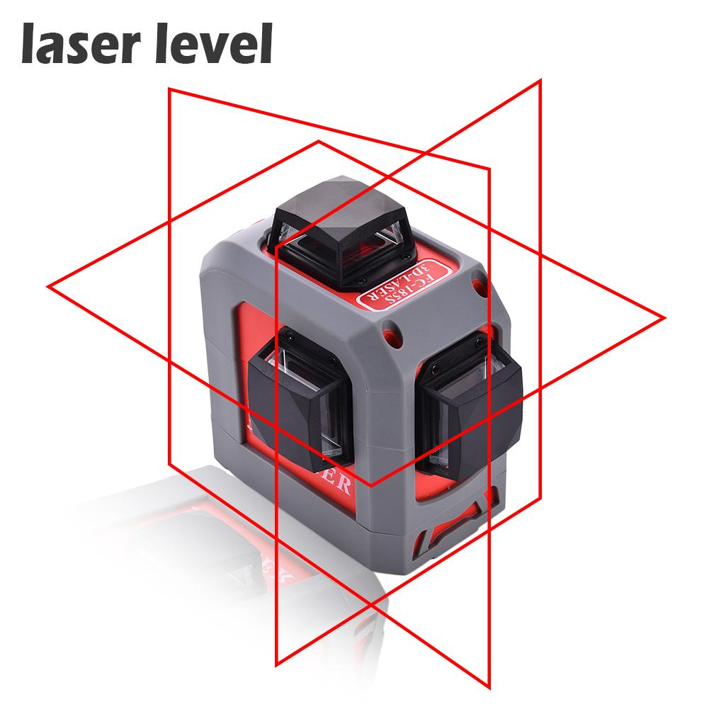 Laser Level Self-Leveling 360 Horizontal And Vertical Cross Super Powerful Red Laser Beam Line 12 Lines Laser Level Kit FC-185S чехол для одежды valiant classic объемный 60 х 100 х 10 см