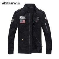 プラスサイズ6xl 2017新しい冬厚い軍事ジャケット男性黒アーミーグリーンカーキトップ品質男