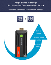 MK809 IV Android 7.1 TV Dongle RK3229 Quad Core 2G/16G UHD 4K Smart Stick HD 3D Mini PC H.265 WiFi DLNA MediaPlayer