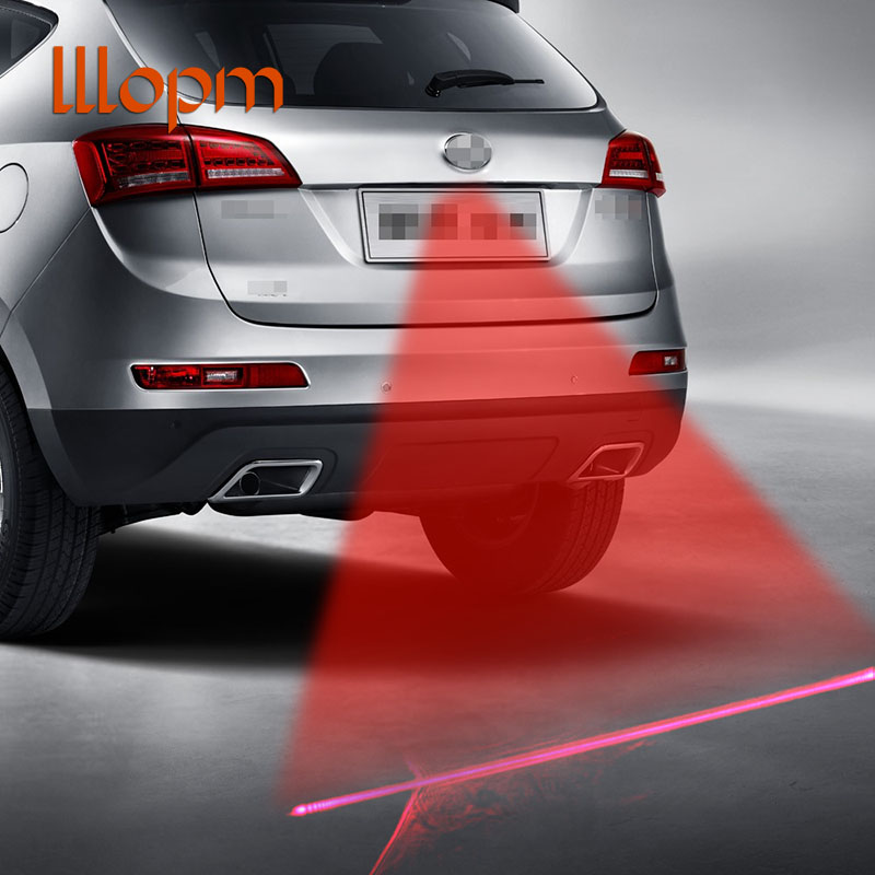 Car Anti-collision Laser Fog Light Auto Anti-fog Parking Stop Braking Signal Indicators Motorcycle LED Warning Light Car-Styling цена
