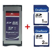 Expresscard カードリーダー SD SDHC SDXC カードアダプター + SD カード 1 ギガバイト 2 ギガバイトため XDCAM シリーズ SXS カードアダプタ