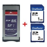 Expresscard Card reader SD SDHC SDXC Card Adaptor + SD Card 1GB 2GB for XDCAM Series SXS Card Adapter