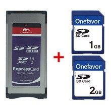 Lecteur de carte Expresscard SD SDHC SDXC adaptateur de carte + carte SD 1 GB 2 GB pour XDCAM Series SXS adaptateur de carte