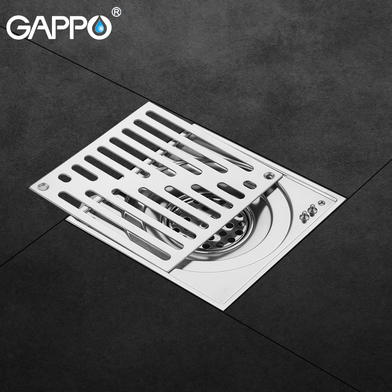 Gappo Drains Stainless Steel Bathroom Waste Drains Floor