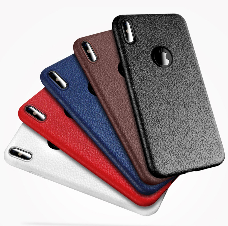 Business Ultra Thin Leather Skin Soft TPU Phone Back Case For iPhone XS MAX XR X 8 7 6S Plus Luxury Slim Shockproof Cover Fundas