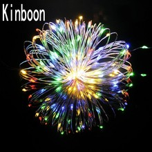 Купить с кэшбэком New 2M 3M 4M 5M LED Copper Wire String Fairy lights AA Battery Operated Christmas Holiday Wedding home Party Decoration lights