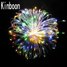 Ny 2M 3M 4M 5M LED-koppar Wire String Fairy-lampor AA Batteridrivna julhelgdag Bröllop hem Party Decoration lights