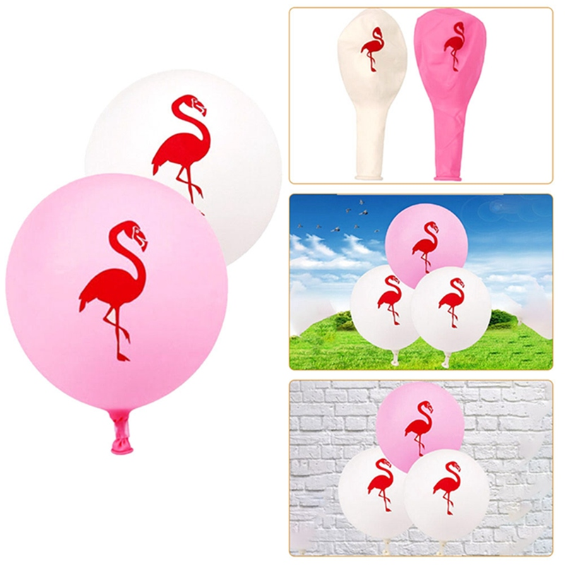 10pcs/lot 12inch Pink Bird Latex Balloon Birthday Wedding Baby Shower Pool Party Decor Bachelorette Hen Party Supplies