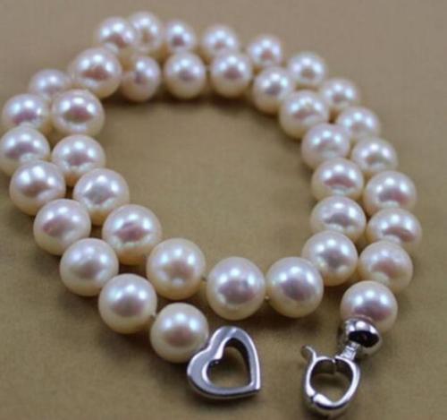 Vente chaude livraison gratuite ***** charmant AAA blanc 10-11 MM mer du sud collier de perles naturelles 17 pouces