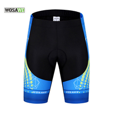 WOSAWE Cycling Shorts Outdoor Sportswear Bike Bicycle Shorts 3D Gel Padded Coolmax Cycle Clothing Downhill MTB Short Underwear