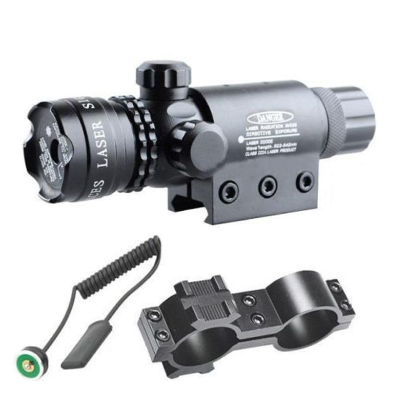 Cauda para a para a Caça Tático 5 mw Red Laser Sight Rifle Scope Riflescope Designador 20mm Montagem Interruptor da Caça