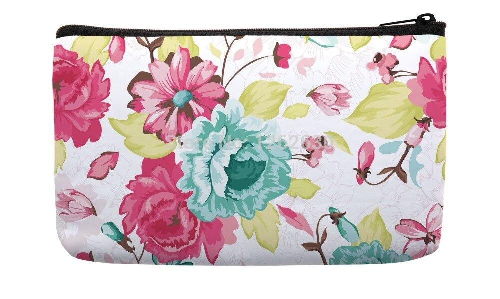 Abstrakte Floral Elegance Allover Muster Hohe Qualität Druck-kundenspezifische Kleine Kosmetiktasche Armband Hand Tasche
