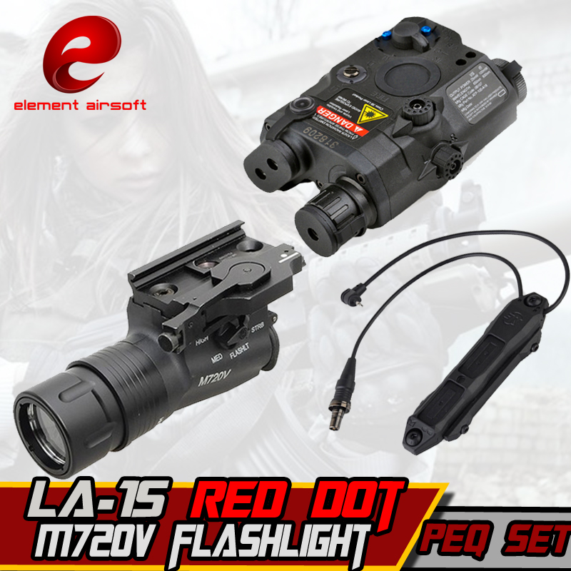 Element M720V Hunting Flashlight linterna LA-15 Laser PEQ Augmented Pressure Mount Double Control Switch tactical Weapon Lights подствольный оружейный фонарь element peq 16 illumunator an peq 16a