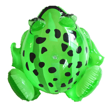 Baby Boy Girl Inflatable Frog PVC Frog Inflatable Toys Children Green Frog Shaped Balloons Inflatable Cartoon