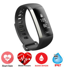 Смарт-фитнес браслет нажмите сообщение 0.96 дюймов браслет Приборы для измерения артериального давления сердечного ритма Мониторы крови кислородом для Xiaomi Huawei телефон