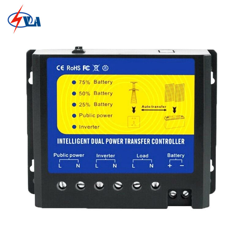 ФОТО NV-Q4500 Good Price 4500W Solar Intelligent Dual Power Transfer Switch Controller For 12V Solar & Wind System AC110V output