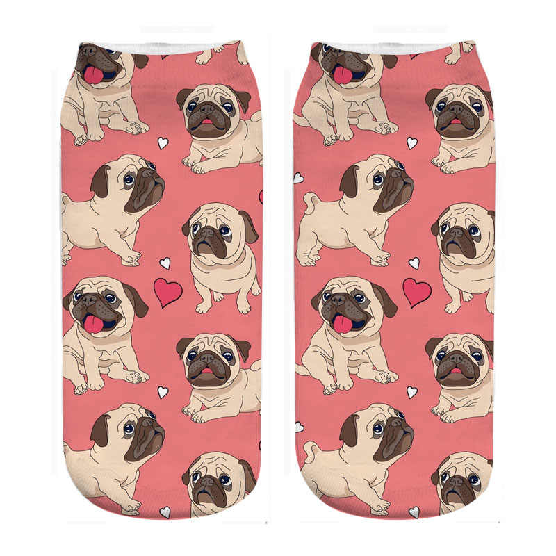 cute pugs socks photo 3d print cute wholesale